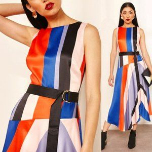 Karen Millen Multi-Colored Striped Dress